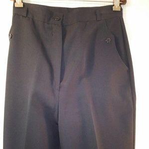 Vintage Button Pocket Dress Pants